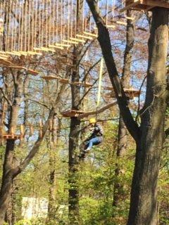 Der Klettergarten war sicherlich ein Höhepunkt der Klassenfahrt des Beruflichen Gymnasiums. Foto: SMMP/Heidler