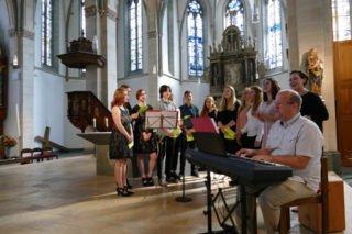 Die Abschlussfeier des Placida-Viel-Berufskollegs begann mit einem feierlichen Gottesdienst. Foto: SMMP/ Katja Hofbauer