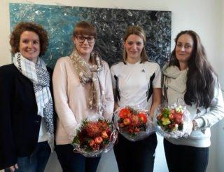 Blumen für die Damen: (v.l.) Kerstin Kocura, Laura Stahl, Inga Gerlings und Mareike Becker-Pagana. Foto: SMMP/Hofbauer